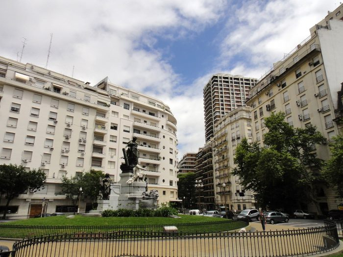 Plaza Carlos Pelligrini photo via Wikipedia CC