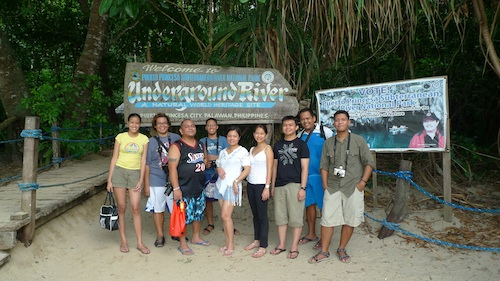 Pinoy Travel Bloggers with Microtel inPuerto Princesa Subterranean River National Park