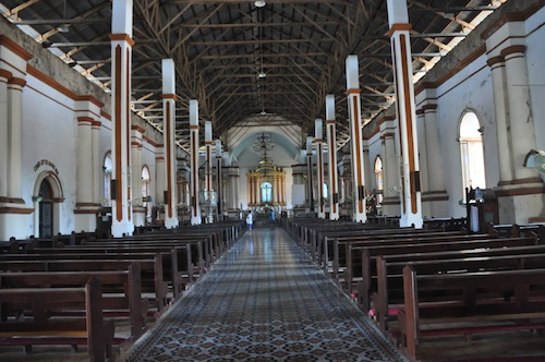Inside Paoay Church