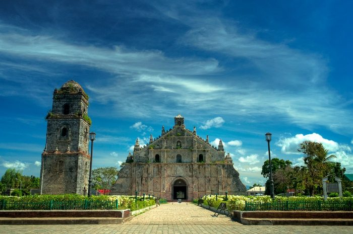 Paoay Church in Ilocos Norte by Brynht via Wikipedia CC
