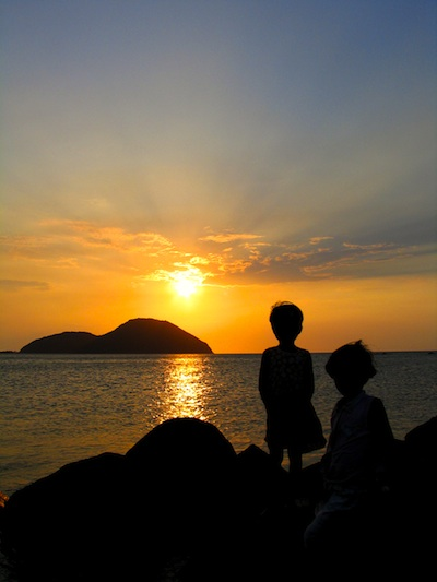 sunset in babuyan island