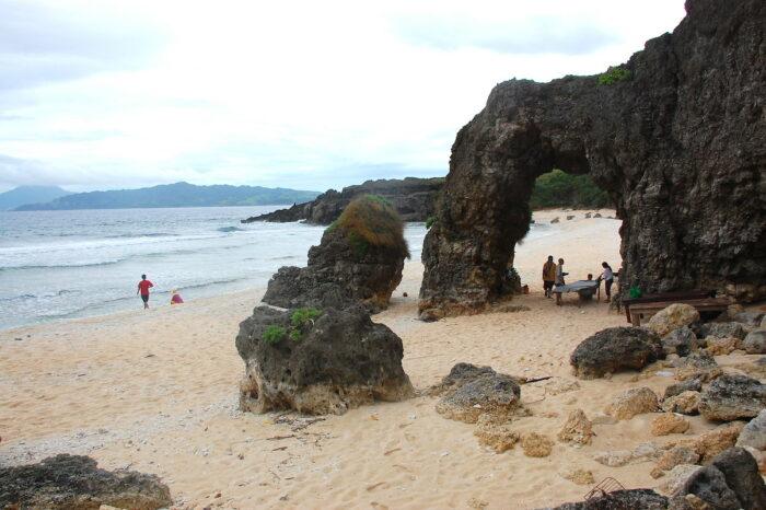 Nakabuang Arch in Morong Beach, Batanes