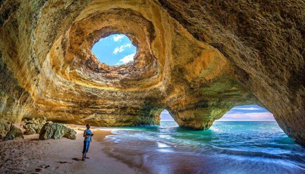 Beach Cave in Algarve Portugal