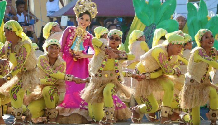 Abaca Festival street dancers