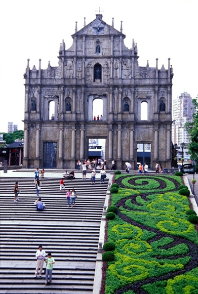macau church ruins