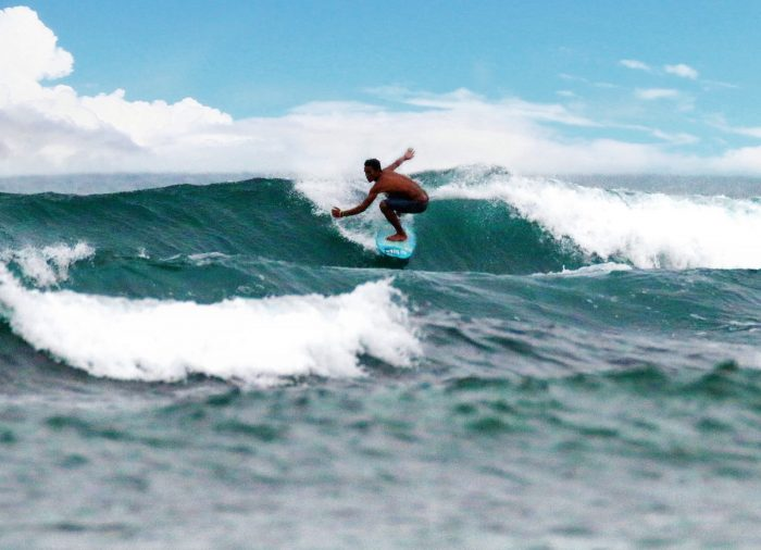 Surfing at the Majestic surf spot in Puraran Catanduanes