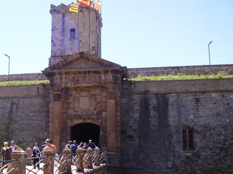Monjuic's castle in Barcelona