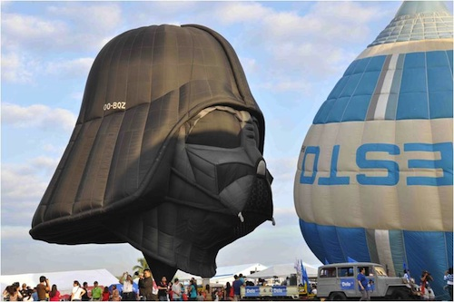 Darth Vader Hot Air Balloons - More fun in the Philippines