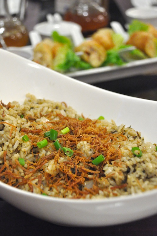 Laing Fried Rice with Adobo Flakes
