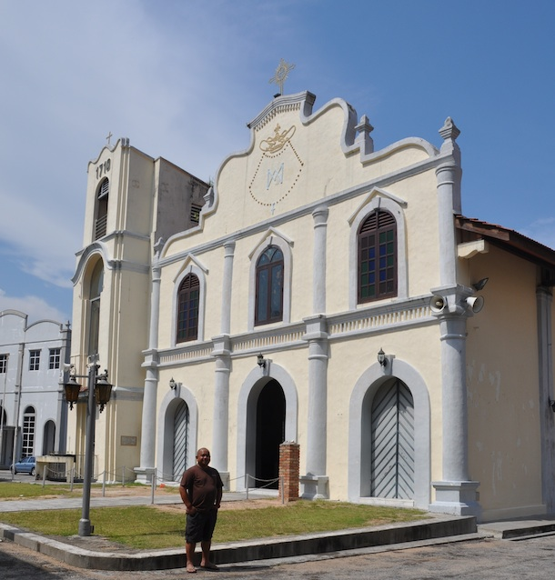 Melo in St. Peters Church in Malacca