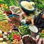 Vegetable Vendor at Pasar Siti Khadijah Market in Kelantan
