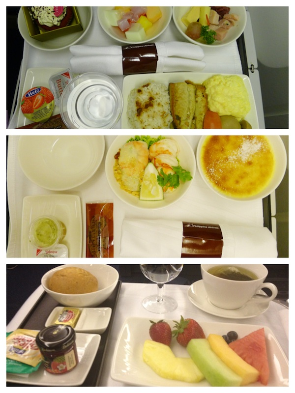 Inflight Meals at the Inaugural Flight