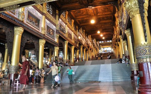 Stairways to the Shwedagon