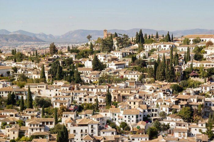 Albaicin district in Granada Spain
