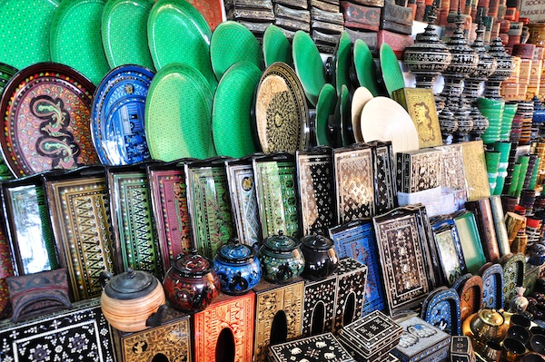 Lacquerware Souvenirs in Bagan