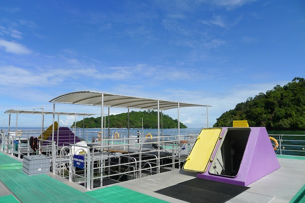 Upper Deck of Borneo Reef World