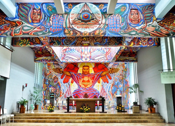 Inside the Church of the Angry Christ