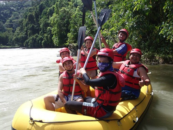 Getting ready to conquer the mighty Kiulu River