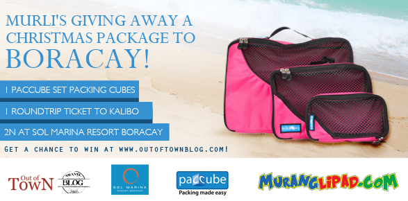 Win Murli's Boracay Vacation Giveaway including a set of Paccube Packing Cubes