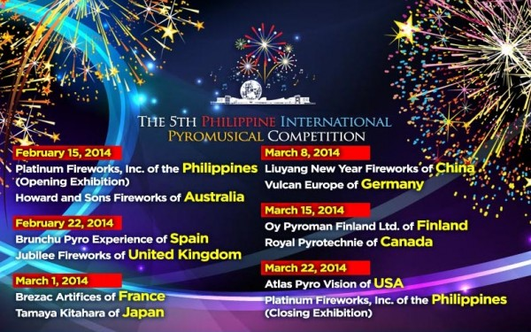 Philippine Pyromusical Competition 2014