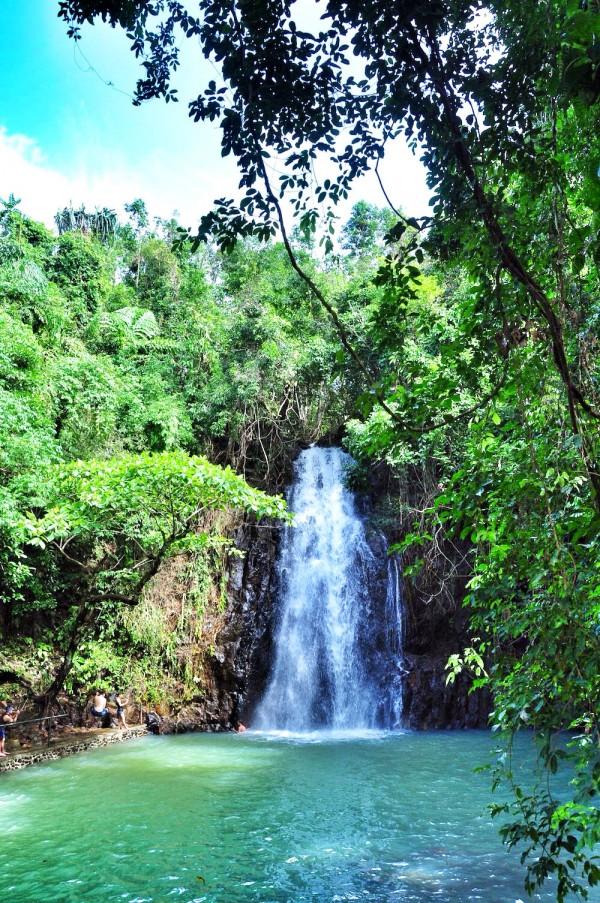 Taktak falls in Siargao