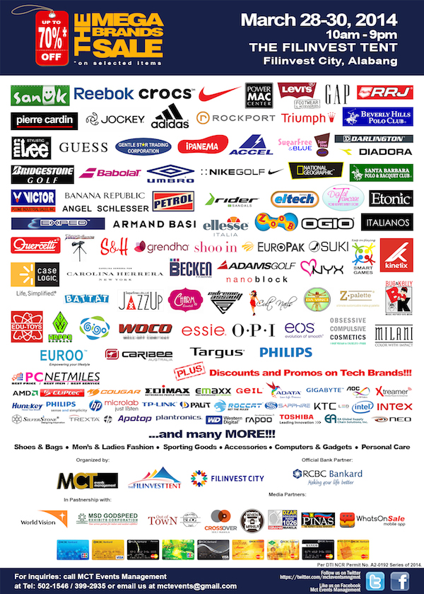 7th MegaBrands Sale Participating Brands and Media Partners