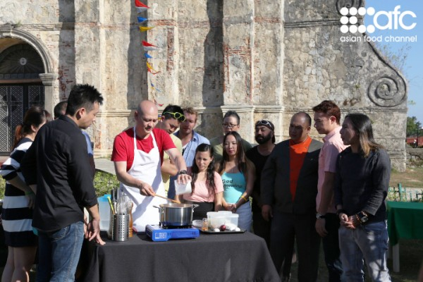 Contestants in front of Paoay Church