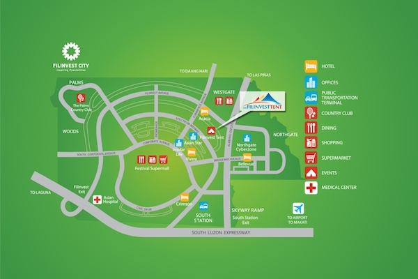 Filinvest Tent Map