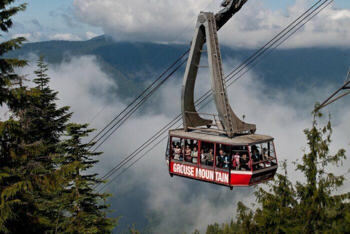 Skyride at Grouse Mountain photo via Pixabay