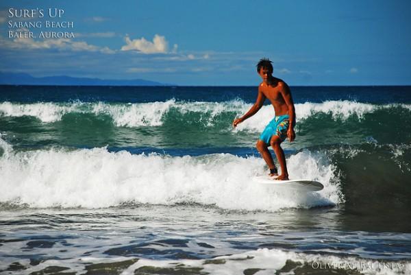 Surfing in Baler by Oliver Bautista Baler Travel Guide