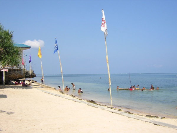 Sunny white beach at Rock Garden Resort, Bolinao