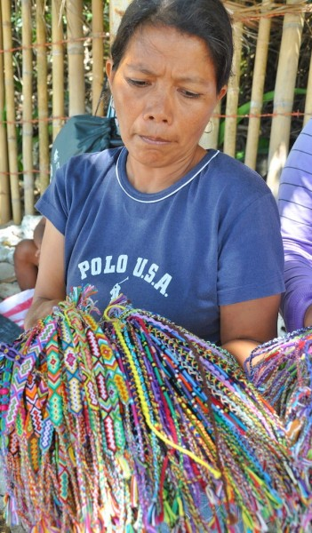 Hand Woven Bracelets and anklets in Puerto Galera