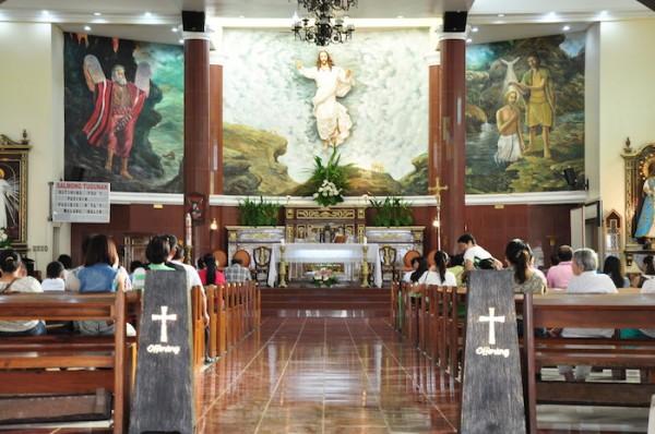Inside Kamay ni Hesus Healing Chapel