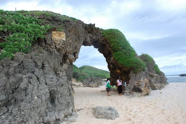 Nakabuang Arch in Morong Beach in Sabtang Island