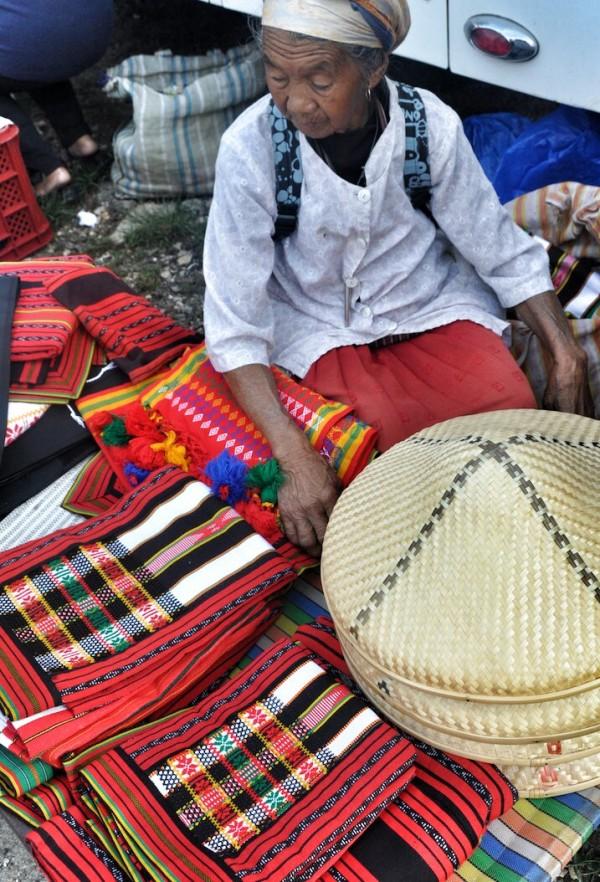 Hand woven fabric in Sagada