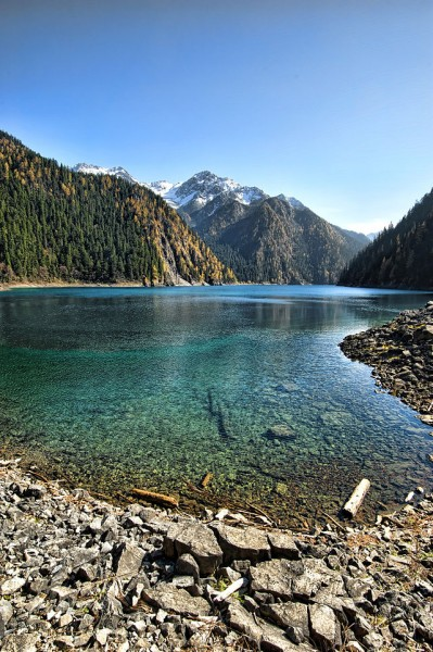 Long Lake is the highest, largest and deepest lake in Jiuzhaigou