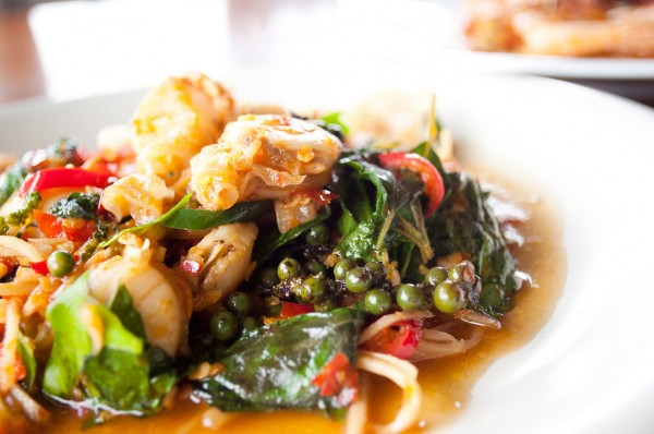 Kraprao Talay - Thai Basil Leaves Seafood Stirfry photo by Prae Songprasit