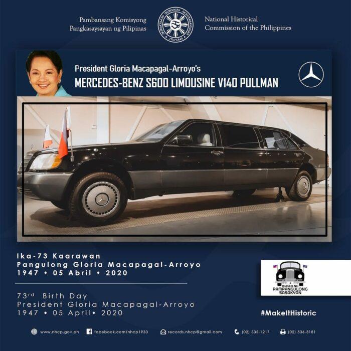 President Gloria Macapagal-Arroyo's Mercedes-Benz S600 Limousine V140 Pullman