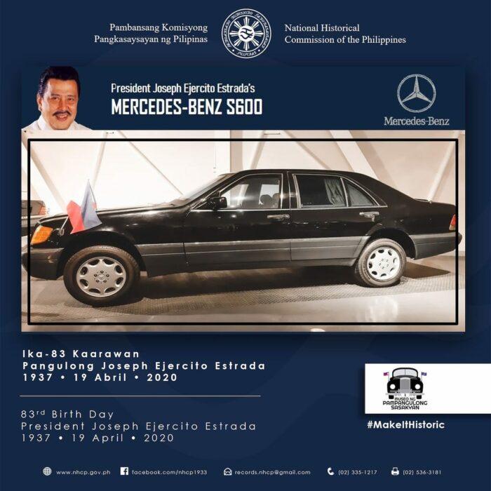 President Joseph Estrada's Mercedes-Benz S600