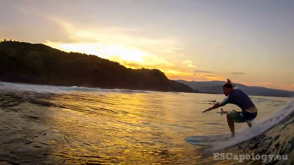 Surfing a secret break on Catanduanes