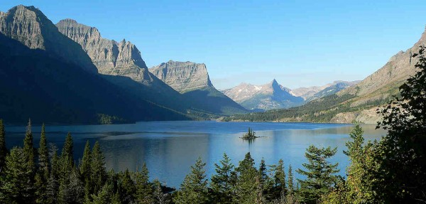 Saint Mary Lake, the second largest lake in the park - one of the Endangered Tourist Attractions in the World