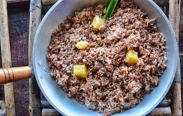 Organic Red Rice with Kamote