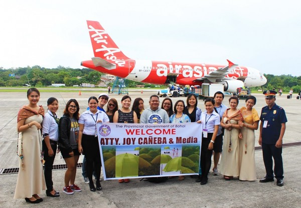 Media from Manila with the AirAsia Philippines Team