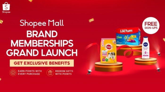 Shopee Mall Brand Memberships Grand Launch