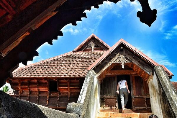 Exploring various sections of Padmanabhapuram Palace