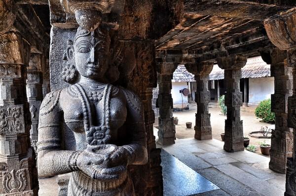 Stone Sculptures inside Padmanabhapuram Palace