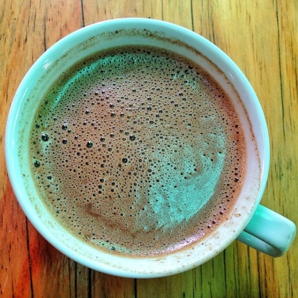 A cup of hot chocolate from Choco-Late' de Batirol in Camp John Hay