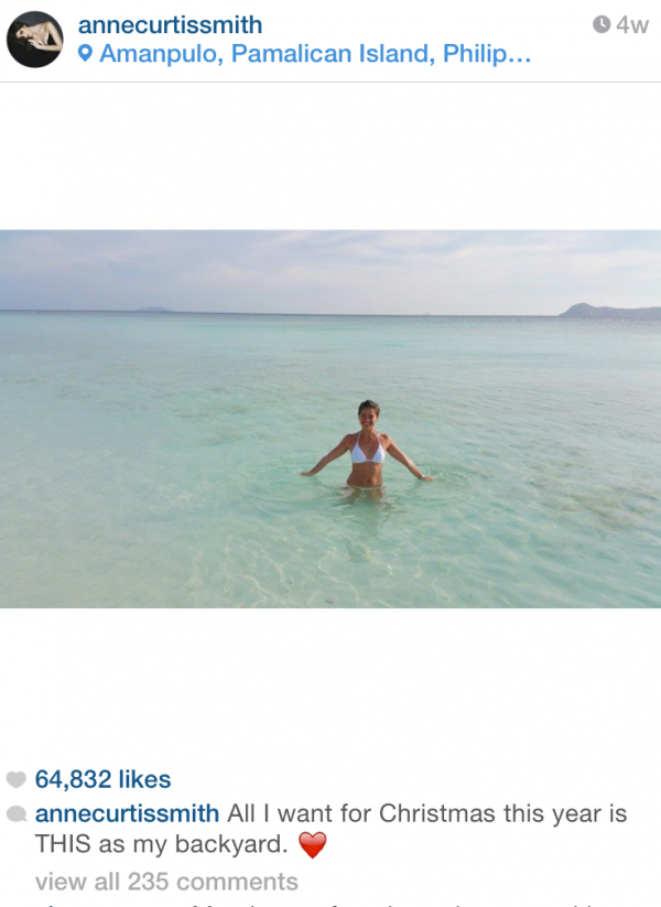 Anne Curtis in Amanpulo Palawan