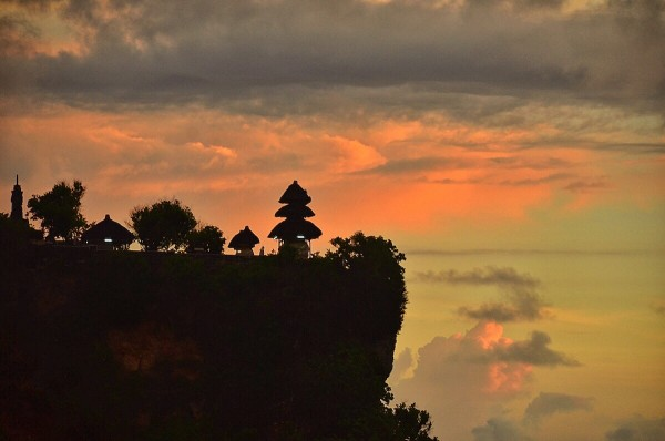 Beautiful Sunset in Uluwatu Temple