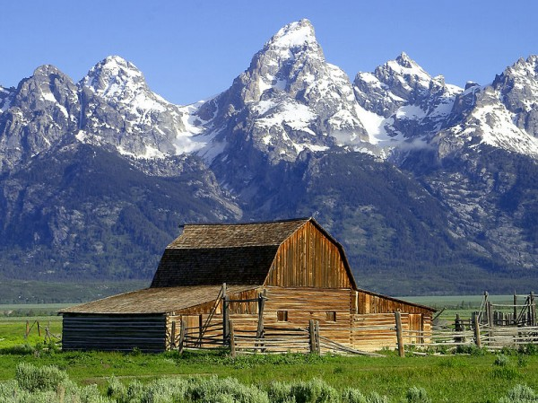 Jackson Hole Valley in Grand Teton National Park